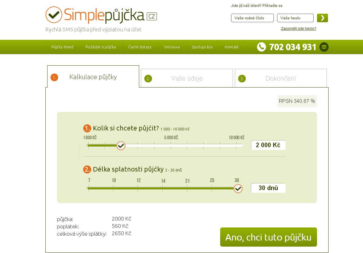 Simple půjčka vám přinese finanční hotovost až do 10000 Kč